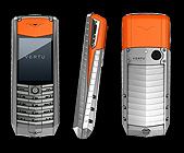 Телефон Vertu Ascent X (Aлюминий, оранжевый каучук)
