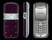 Vertu Constellation Satin Stainless Steel Burgundy Leather