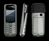 Телефон Vertu Ascent X (Титан, черная кожа)